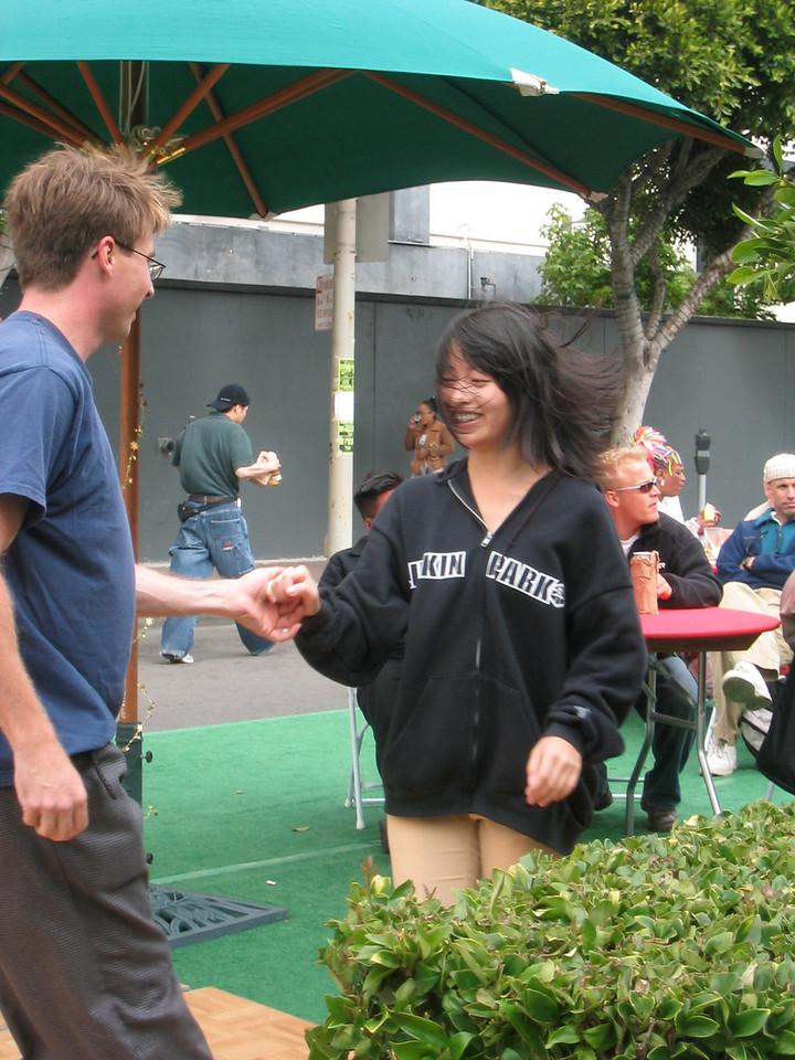 2004 07 03 Saturday - Estee Wang lindy hopping at Fillmore Jazz Festival - closer