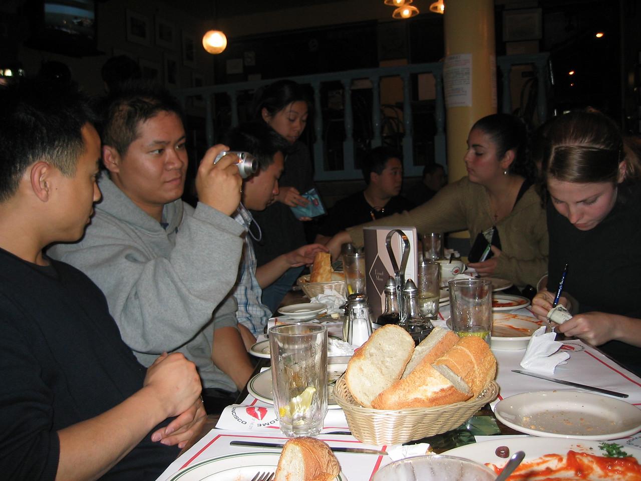 2003 - End of semester dinner @ Steps of Rome in SF