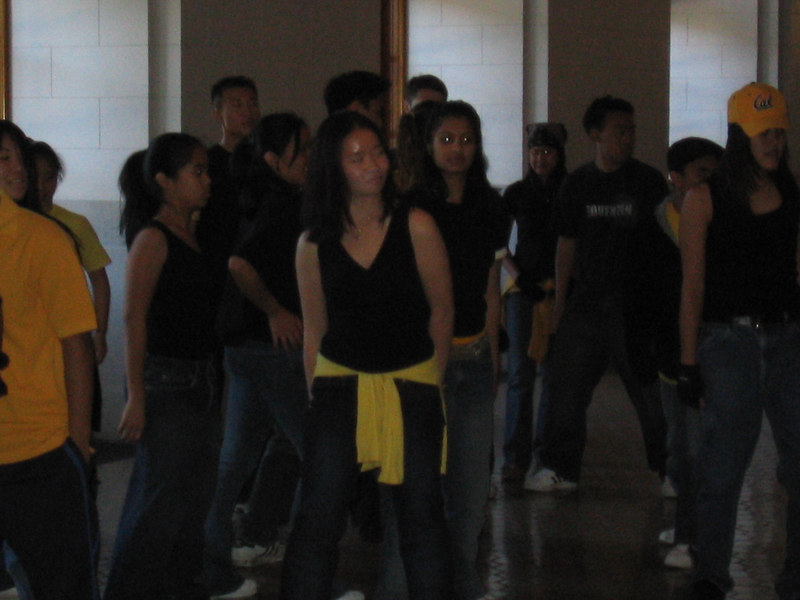 2003 - Chelsea Chung & Shaila Bulusu in a hip hop routine