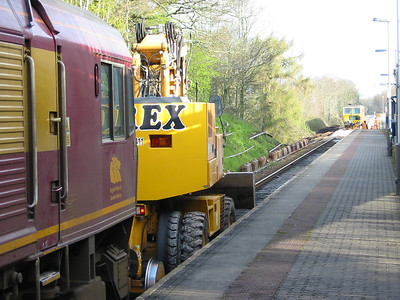Track work at Digby & Sowton - 11th April 2004