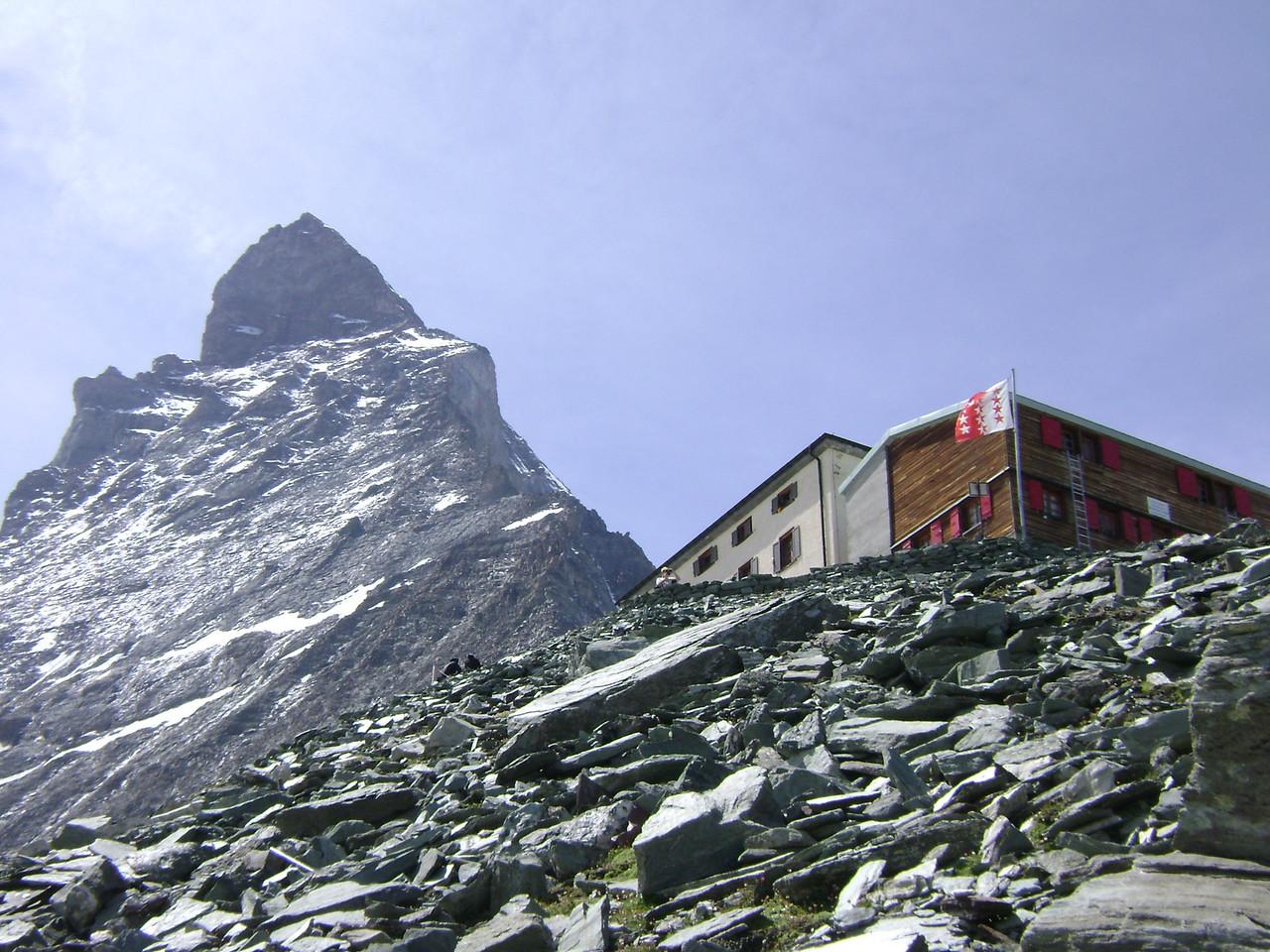 Z Climb partway up the Matterhorn to Hornli hut while in Zermatt