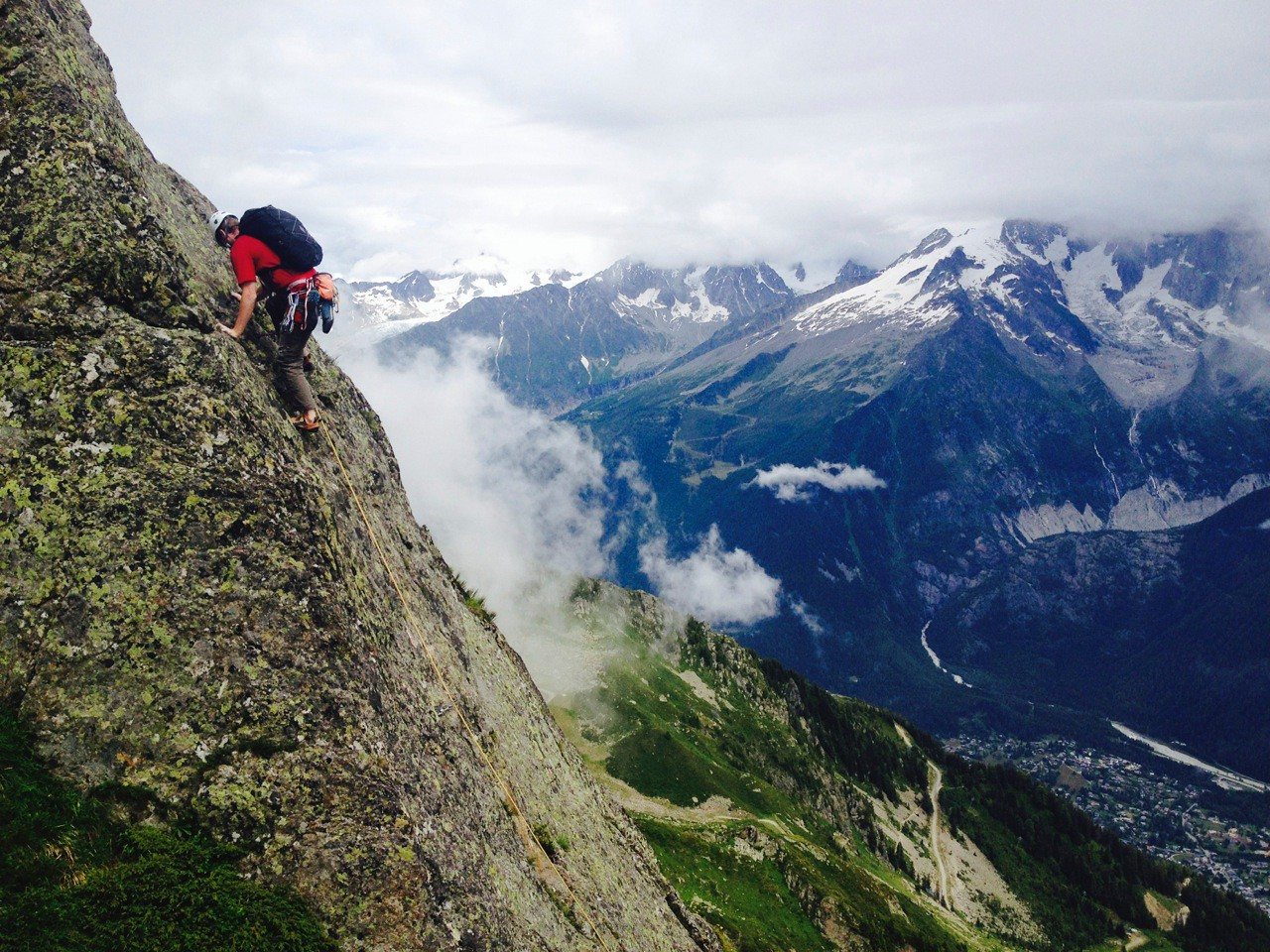 other climbers on Cocher - Cochon in the Aiguille Rouge