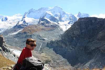 Ryan with Breithorn in the background