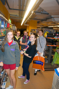Kate, Samantha, Catherine, Lexi, and Allison at Migros
