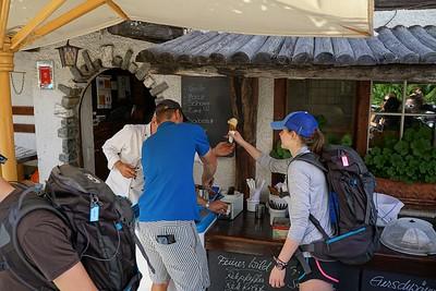 Ashlyn getting some cinnamon ice cream in Zum See