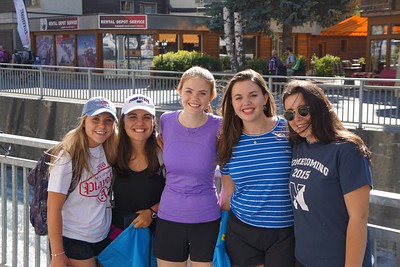 Mary, Abby, Emma, Hannah, and Claire in Zermatt just outside Sunnegga