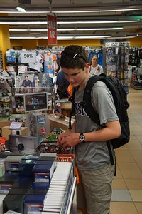 Fraser getting his supplies