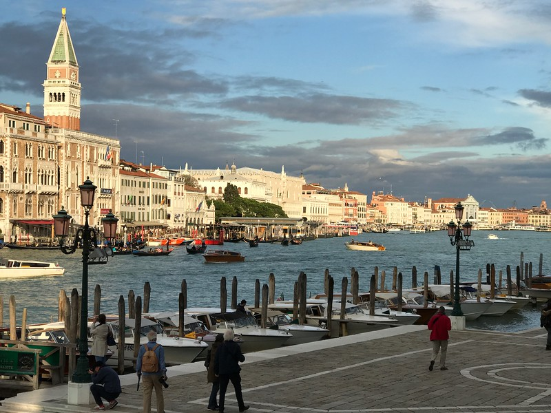 Venice and the Grand Canal looking toward our hotel
