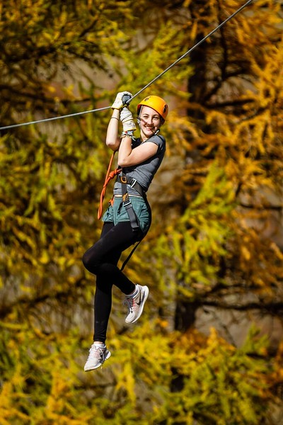 Caroline on the Ropes Course