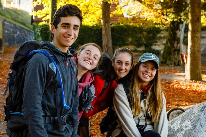 Filippo, Sophia, Caroline, and Shea at Ballenberg