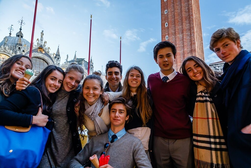 A group of Swiss Semester students in San Marco