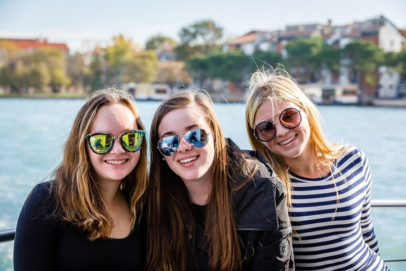 Kalindi, Lilli, and Madeline in Venice