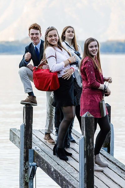 Ryan, Jordan, Hanna, and Lilli at Chillon