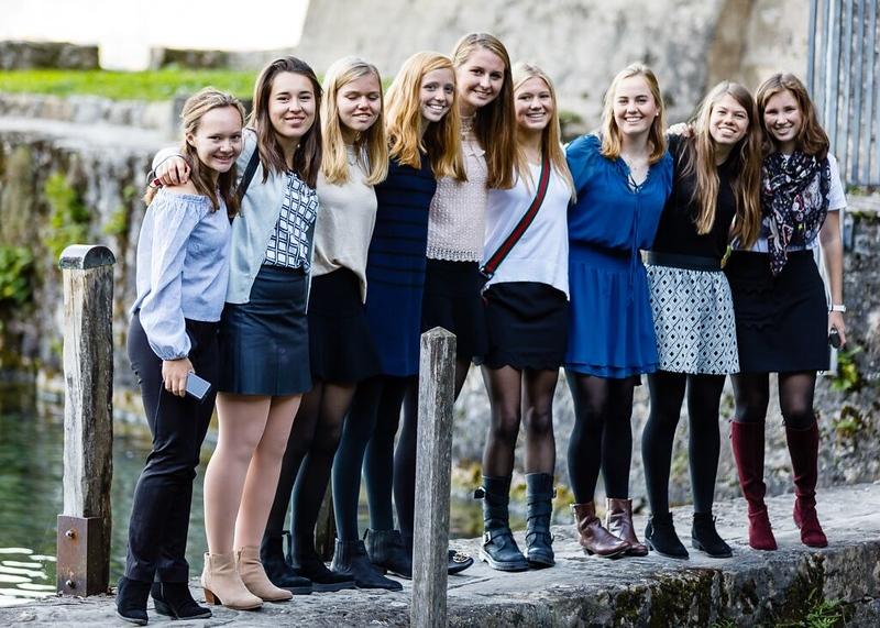 Posing outside the Chillon Castle