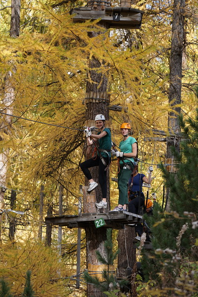 Phoebe and McAuley on the Ropes Course