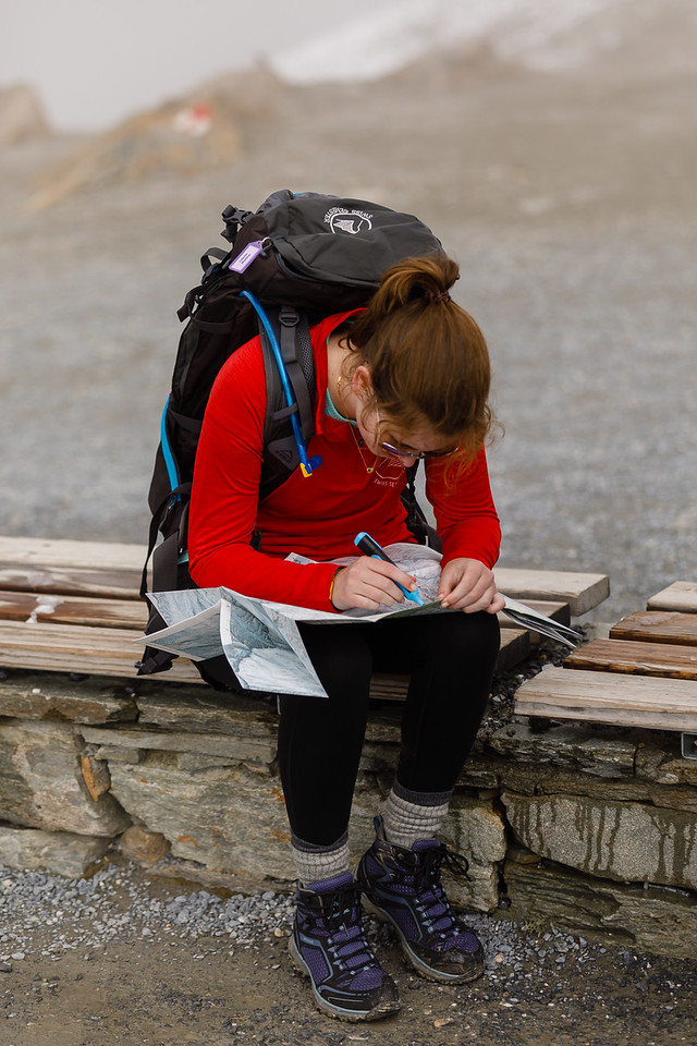 Celeste highlighting her map