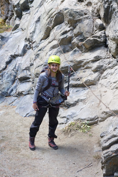 Hanna after being lowered into the gorge