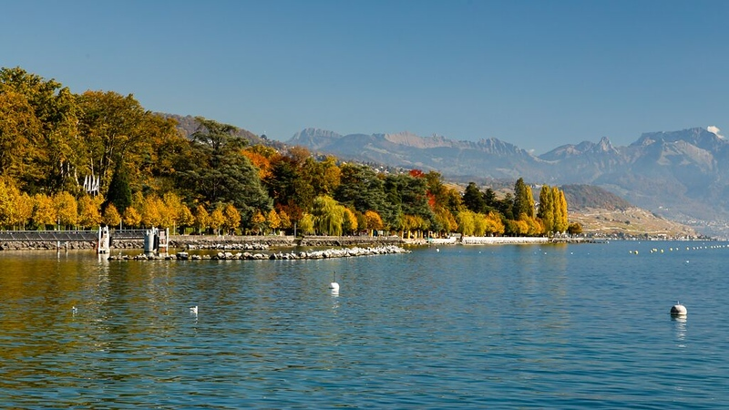 In Lausanne along Lac Leman (Lake Geneva)