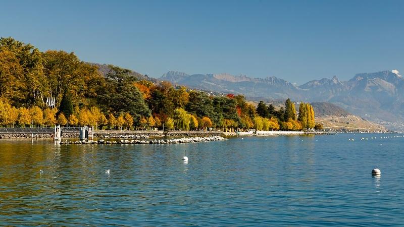 In Lausanne along Lac Leman (Lake Geneva)