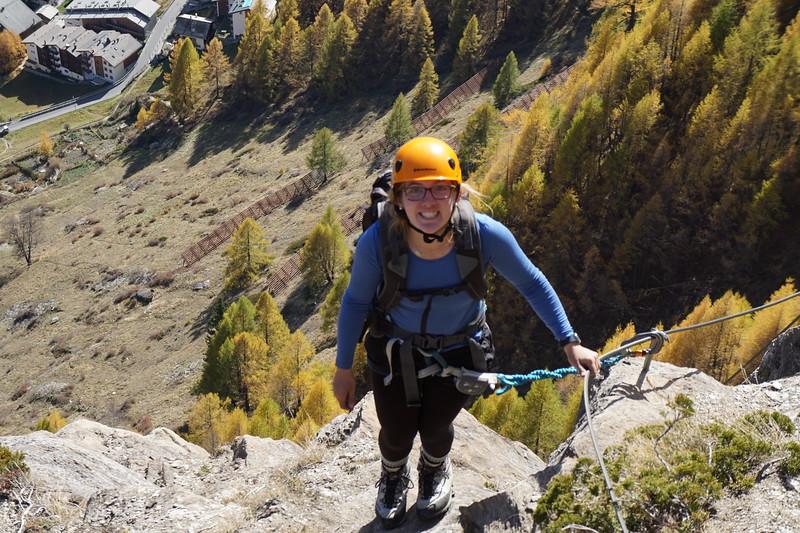 Anna with Zermatt below