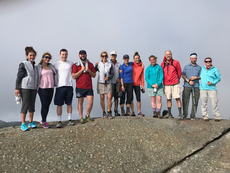 Faculty at the summit of Mt. Cardigan in New Hampsire