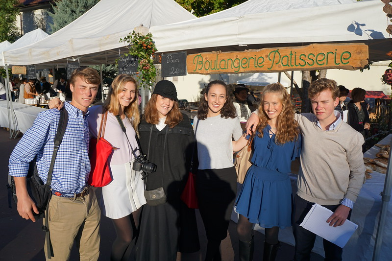 Charlie, McAuley, guest, Caroline, Lily, and Hunter in Annecy at the Alpenage in Annecy