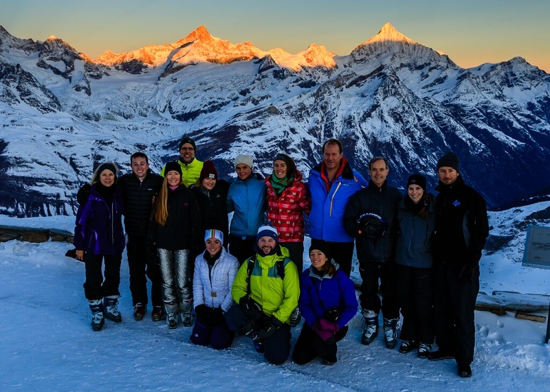 Swiss Semester faculty on the last day up at Gornergrat at sunrise
