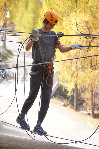 Ilias on the Ropes Course