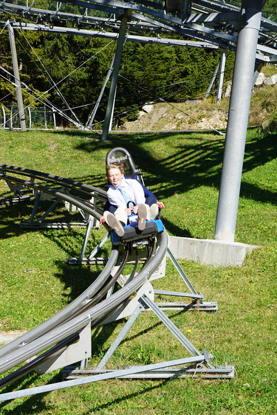 Luke enjoying the luge