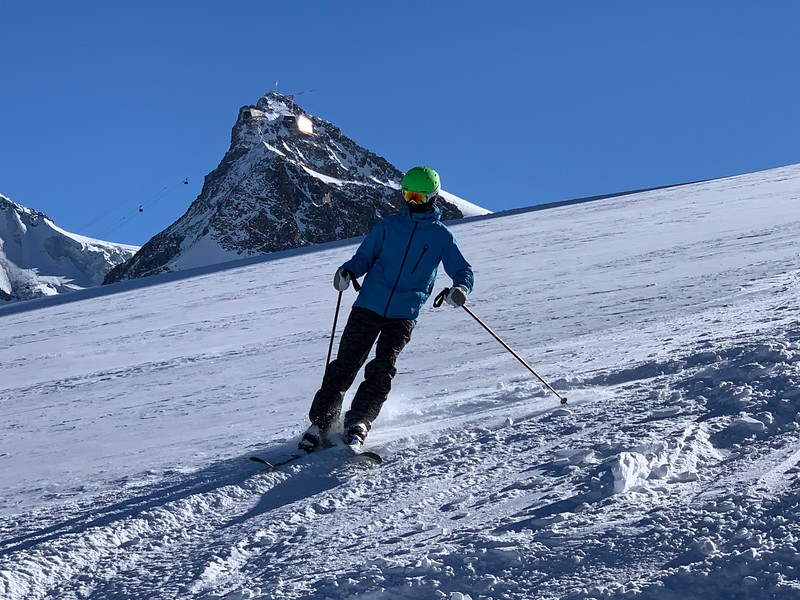 Jack with Klein Matterhorn in the background