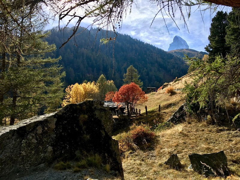 Fall has arrived in Zermatt