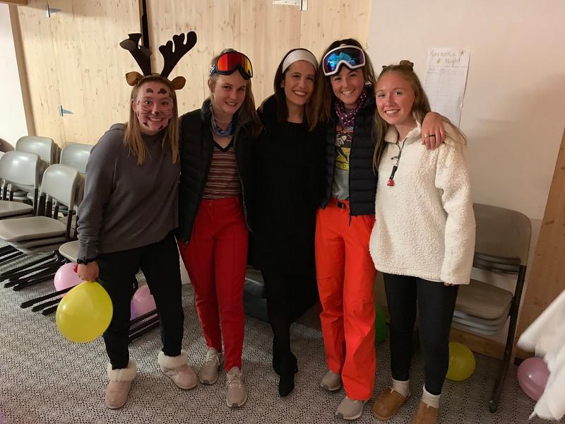 Amanda, Kate, Ms. Cisternino, Ava, and Liza