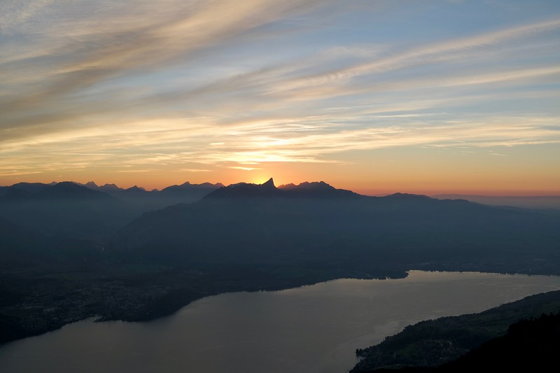 The sunset from Niederhorn