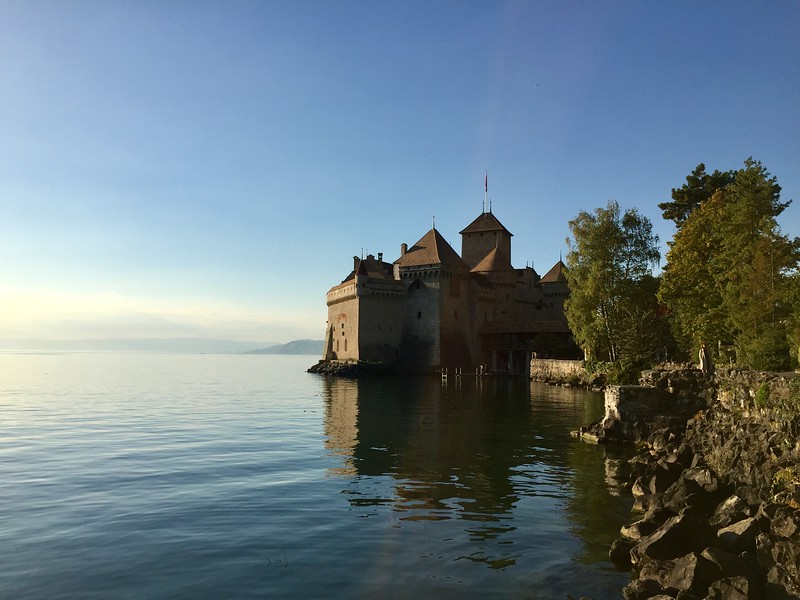 Chillon Castle as taken from the Vineyard bike trip