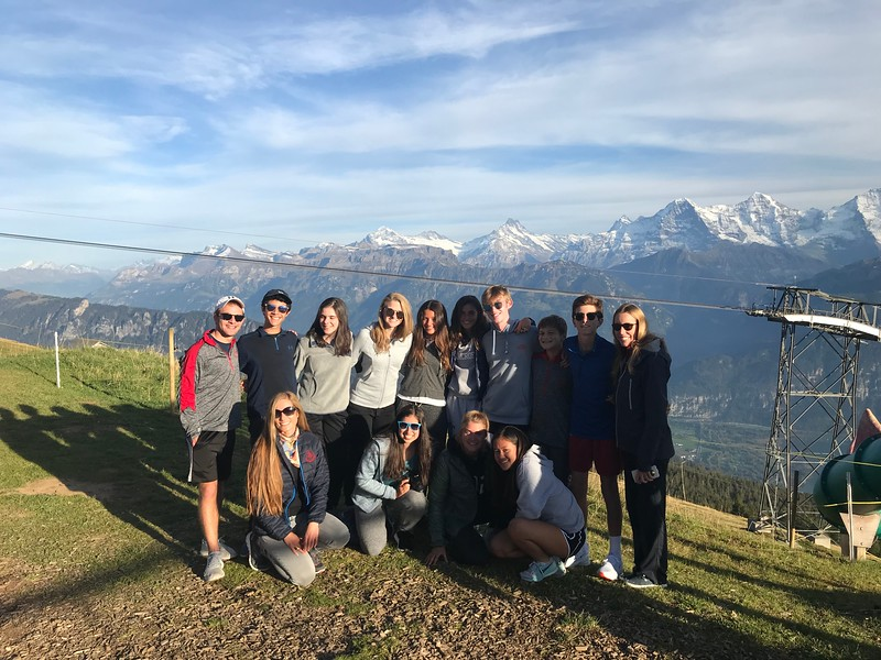 On top of Niederhorn—the Bern bike group