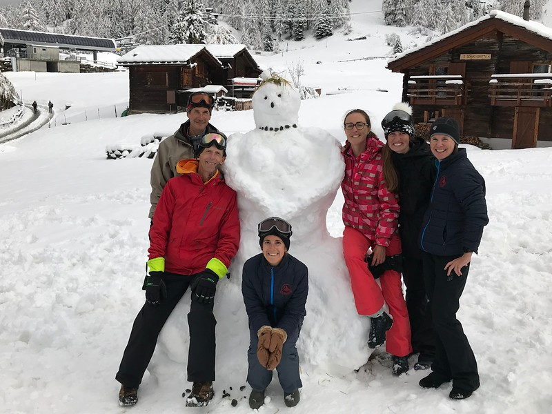 The faculty snow person (Mr. Burkins, Mr. Kelley, Ms. Leperi, Ms van Zalinge, Ms. Gillis, Ms. Espinosa