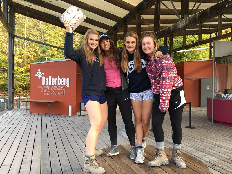 The winners of the Ballenberg scavenger hunt: Laine, Nicole, Kate, and Amanda