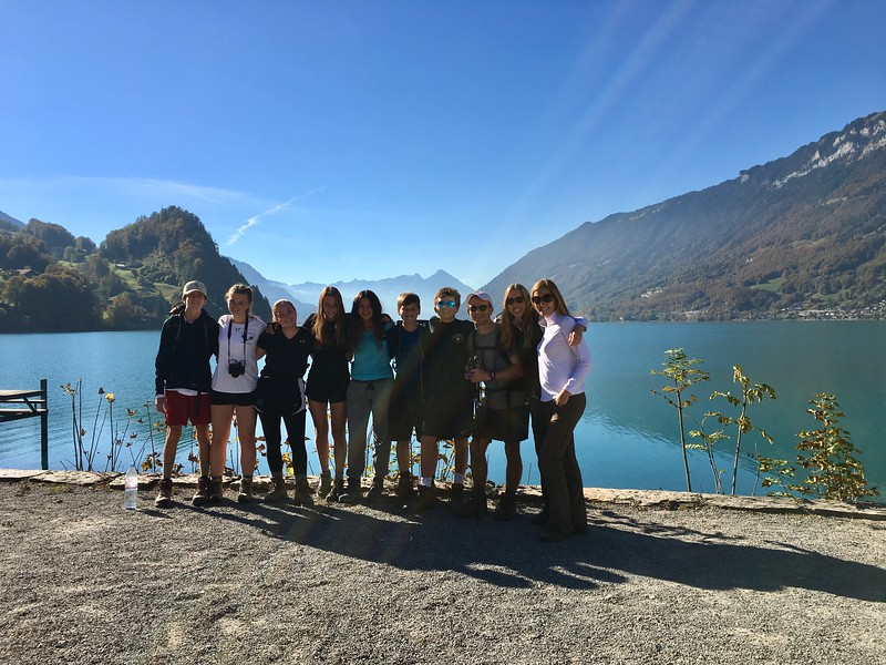 Weekend trip to Brienz (Will, Laine, Amanda, Kate, Nicole, Ryan, Max, Mr. Taylor, Ms. Valentino, and Ms. Brouillac