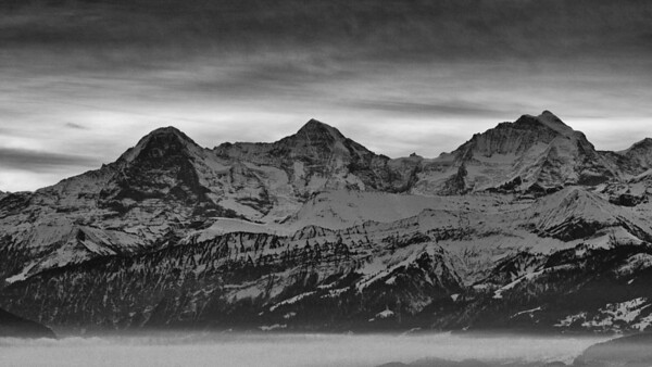Bernese Alps (Switzerland) view from Burgistein - january 2010