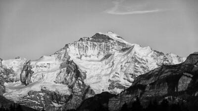 Bernese Alps (Switzerland) - Jungfrau - view from Beatenberg - may 2011