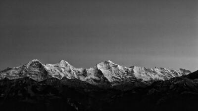 Bernese Alps (Switzerland) view from Beatenberg-Schwendi - october 2011