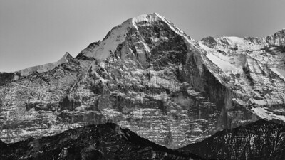 Bernese Alps (Switzerland) - Eiger - view from Beatenberg-Schwendi - october 2011