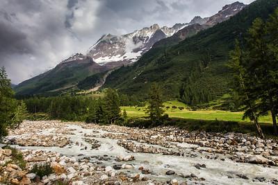Gletscherspitza, Lonzahörner, Breithorn, Breitlauihorn, Lonza-Fluss