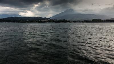 Rainy evening - Lucerne, Carl Spitteler-Quai