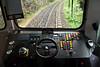 Rigi Railway Trailer 21 driving desk, Arth Rigi Railway, Mon 15 June 2015.  Is the Momo wheel standard issue?