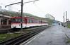 Rigi Railway Nos 21 + trailer 31 (left) & 14 + trailer 24, Rigi Kulm station, Mon 15 June 2015
