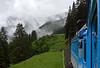 Rigi Railway No 11 & Trailer 21, leaving Rigi Staffel, Mon 15 June 2015 - 1812