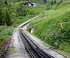 Planalp, Brienz Rothorn Rly, 20 June 2004.  The way to the summit!