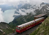 Brienz Rothorn Rly 0-6-0T No 14, Rothorn, 20 June 2004 1.  Lake Brienz in the distance.