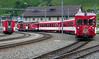 """MGB No 95 Andermatt, Andermatt, 6 July 2006.   Here are 13 shots recording the Andermatt - Goschenen shuttle through the Schollenen Gorge.  The Deh4/4"""" sets off with the shuttle to Goschenen, at the northern end of the Gotthard tunnel."""